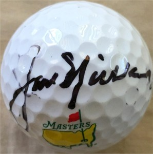 Jack Nicklaus autographed Masters golf ball