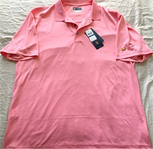 Jack Nicklaus Golden Bear salmon StayDri golf shirt BRAND NEW WITH TAGS