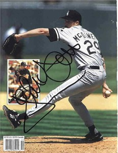 Jack McDowell autographed White Sox Beckett Baseball back cover