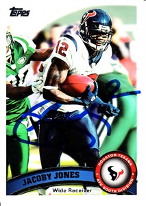 Jacoby Jones autographed Houston Texans 2011 Topps card