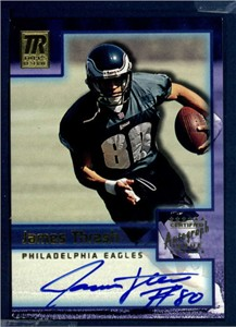 James Thrash certified autograph Philadelphia Eagles 2001 Topps Reserve card
