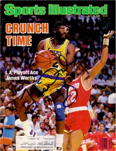 James Worthy autographed Los Angeles Lakers 1986 Sports Illustrated