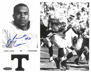 Jamal Lewis autographed Tennessee Volunteers 8x10 photo (UDA)