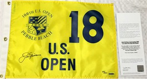 Jack Nicklaus autographed 2000 U.S. Open golf pin flag ltd. edit. 500 (UDA)