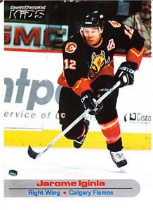Jarome Iginla Calgary Flames 2002 Sports Illustrated for Kids card