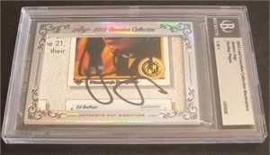 Jaromir Jagr certified autograph 2012 Leaf Executive Masterpiece Cut Signature card #1/1