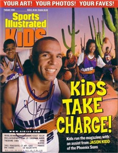 Jason Kidd autographed Phoenix Suns Sports Illustrated for Kids magazine