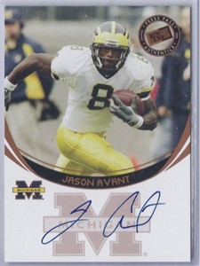 Jason Avant certified autograph Michigan 2006 Press Pass card