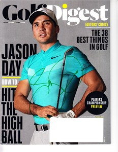 Jason Day autographed 2017 Golf Digest magazine