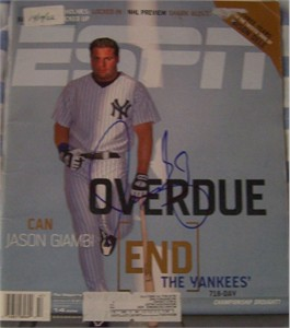 Jason Giambi autographed New York Yankees 2002 ESPN Magazine