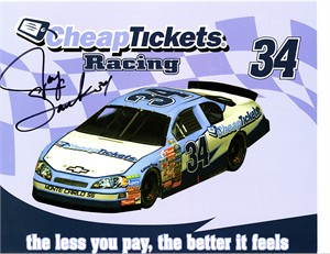 Jay Sauter autographed NASCAR 8x10 photo card