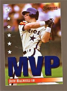 Jeff Bagwell 1994 Donruss MVP insert card #6 MINT