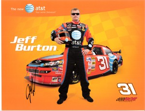 Jeff Burton autographed NASCAR photo card