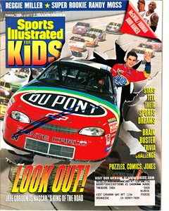 Jeff Gordon autographed 1999 Sports Illustrated for Kids magazine