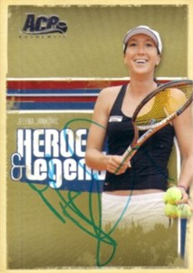 Jelena Jankovic autographed 2006 Ace Authentic tennis card