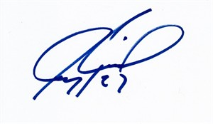 Jeremy Roenick autographed index card