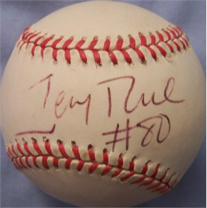 Jerry Rice autographed American League baseball