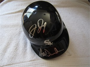 Jermaine Dye & Ray Durham autographed Chicago White Sox mini batting helmet