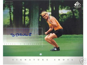 Jennifer Rosales certified autograph 2004 SP Signature Golf 8x10 photo card