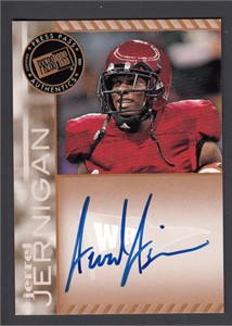 Jerrel Jernigan certified autograph 2011 Press Pass card