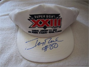 Jerry Rice autographed Super Bowl 23 cap or hat