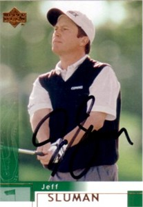 Jeff Sluman autographed 2002 Upper Deck golf card