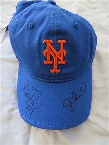 Jesse Orosco & Kevin Mitchell autographed New York Mets throwback cap or hat