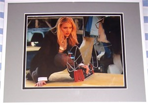 Jessica Alba autographed Fantastic Four 8x10 photo matted & framed