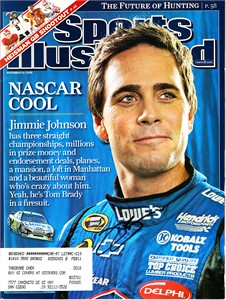 Jimmie Johnson autographed 2008 Sports Illustrated magazine