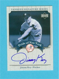 Jimmy Key certified autograph New York Yankees 2003 Upper Deck card