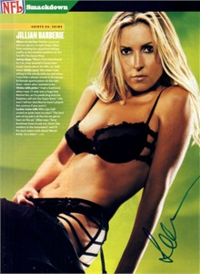 Jillian Barberie autographed Maxim full page lingerie photo