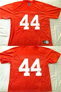 Jim Brown 1956 Syracuse Orangemen authentic Adidas orange stitched #44 jersey NEW