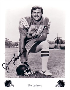 Jim Laslavic autographed San Diego Chargers 8x10 photo