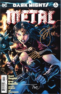Jim Lee Alex Sinclair Scott Snyder autographed Dark Nights Metal DC comic book issue #5 variant cover
