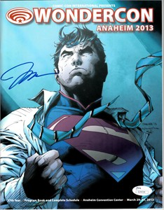 Jim Lee autographed 2013 Wondercon program with Superman artwork cover (JSA)