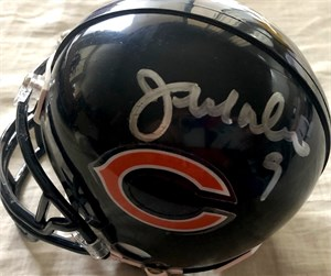 Jim McMahon & Willie Gault autographed Chicago Bears mini helmet