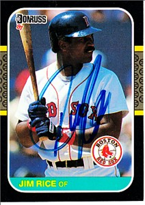 Jim Rice autographed Boston Red Sox 1987 Donruss card