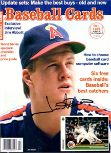 Jim Abbott autographed Angels 1989 Baseball Cards magazine cover