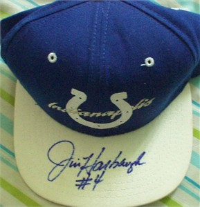 Jim Harbaugh autographed Indianapolis Colts cap or hat