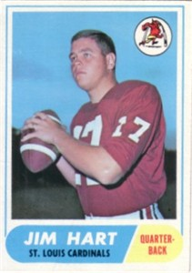 Jim Hart Cardinals 1968 Topps Rookie Card #60 ExMt