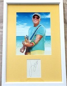 Jimmy Buffett autograph matted & framed with 8x10 photo