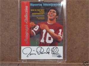 Jim Plunkett certified autograph Stanford 1999 Sports Illustrated card