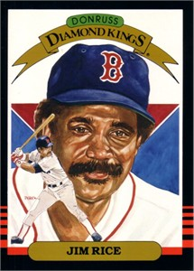 Jim Rice 1985 Donruss Diamond King 5x7 inch jumbo card