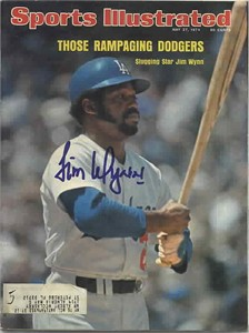 Jim Wynn autographed Los Angeles Dodgers 1974 Sports Illustrated