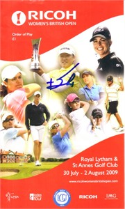 Jiyai Shin autographed 2009 Women's British Open golf pairings