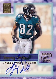 Jimmy Smith certified autograph Jacksonville Jaguars Topps card