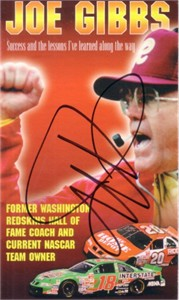 Joe Gibbs autographed Washington Redskins bible tract