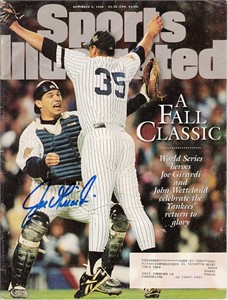 Joe Girardi autographed New York Yankees 1996 World Series Champions Sports Illustrated