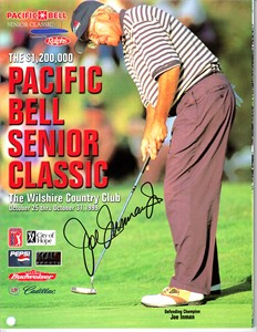 Joe Inman autographed 1999 Pacific Bell Senior Classic golf program