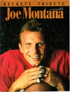 Joe Montana San Francisco 49ers 1993 Beckett Tribute magazine